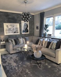 Cute Living Room, Glam Living Room, Living Room Decor Cozy, New Living Room, Home And Living, Small Living, Modern Living, Living Room Goals, Living Room Sets