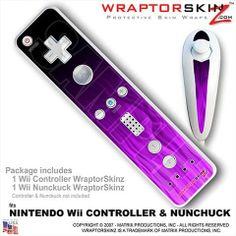 Purple Wii Controller | Wii Remote Controller (wiiMote) Skins Fire Purple - WraptorSkinz by ...