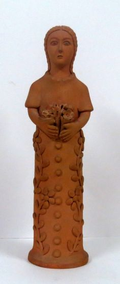 Mestre Nuca de Tracunhaém.15x50 cm Arte Popular, Popular Art, Art Dolls, Buddha, Angels, Arts And Crafts, Fairy, Statue, St Francis