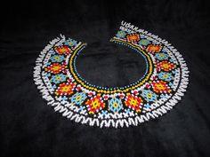Ґердан і мотанка  Gerdan & motanka: Силянка традиційна Beaded Jewelry, Beaded Necklaces, Beading, Beadwork, Knitting Patterns, Jewelery, Crochet Necklace, Cross Stitch, Textiles