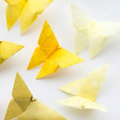 Celebrate the 101st birthday of Akira Yoshizawa by making an origami butterfly! Step-by-step tutorial #craftgawker