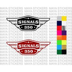 Royal Enfield signals logo sticker in custom colors Royal Enfield Logo, Royal Enfield Bullet, Logo Sticker, Sticker Design, Enfield Bike, Enfield Classic, Cursive Fonts, Wings Design, Box Logo