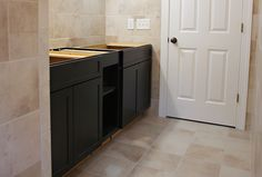 Look at the beautiful custom-made bathroom vanity from The Home Depot. From 7th House on the Left blog. @Ashley @ 7th House Blog
