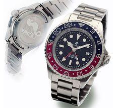 Steinhart OCEAN Forty-Four GMT BLUE-RED Diver Watch
