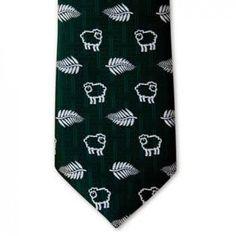 Silver Fern and Sheep Design Tie Pocket Handkerchief, Tie Matching, Silver Fern, Maori Designs, Tie Set, Print Logo, Ferns, New Zealand, Sheep
