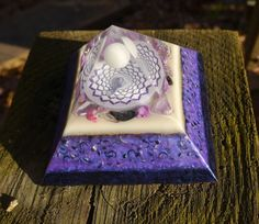 Orgone Energy Pyramid  Crown Chakra  Amethyst by 432oneness