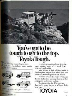 Toyota Lc, Toyota Fj40, Fj Cruiser, Toyota Land Cruiser, Old Ads, Vintage Cars, 4x4, Jeep, Classic Cars
