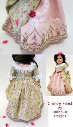 2 pc Colonial Gown Petticoat for American Girl by DollhouseDesigns from Thimbles and Acorns pattern