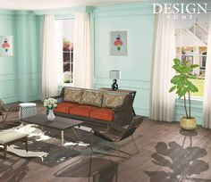 My Home Design, House Design, Outdoor Furniture Sets, Outdoor Decor, Barcelona Chair, Game Design, Love Seat, Accent Chairs, Pastel