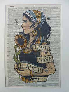 Gypsy Dictionary Wall Art Print No.382 gypsy by DecorisDesigns