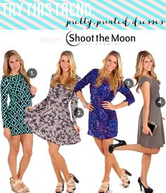 Try this Trend: Pretty, Printed Dress from Shoot the Moon LA