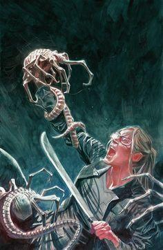 Alien Resurrection, Hr Giger, Alien Vs Predator, Mecha Anime, Fantasy Characters, Fictional Characters, Xenomorph, Sci Fi Fantasy, Caricatures