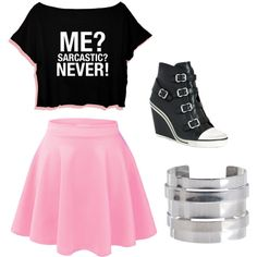 Me? Sarcastic? Never! by haileyoscar on Polyvore featuring polyvore, fashion, style, Ash and Pieces