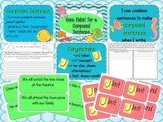 A fun, hands-on way to teach COMPOUND SENTENCES! Grades 2-6. A fish hook symbolizes a comma. :)