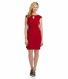 Adrianna Papell Sequined Keyhole Dress #Dillards