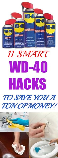 Many times the lack of knowledge cost us both money and sanity. See how using these simple tricks with WD-40 can save you lots of time and money. You will be so happy to know these hacks. #wd40 #cleaninghacks #clean #hacks #save #savemoney #smarthacks