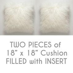 18 X 18 Mongolian Lamb Fur Handmade Pillow Sofa by GlamorousJILL