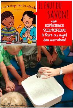 Une expérience scientifique TRÈS simple et effective qui démontre aux élèves l'importance du savon lorsqu'on se lave les mains!