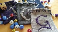 Good, Good Dice Bags, monogrammed dice bags for the deserving gamers in your life.