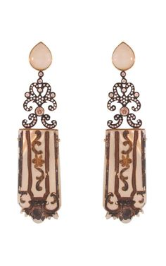 Mother of Pearl Fragment Earrings by Silvia Furmanovich for Preorder on Moda Operandi