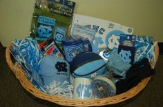 North Carolina Themed Auction Basket; can be modified for any college