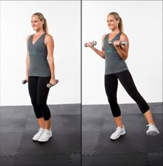 Bicep Curl with Lateral Leg Raise