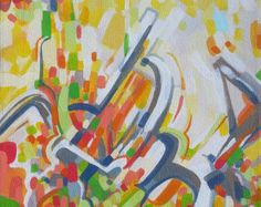 TRANSITION Original abstract Acrylic Painting on by PRISMETAMAGICK