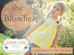 The Blondie is a really cute top to sew for girls.