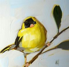"""goldfinch no. - Original Fine Art for Sale - © Angela Moulton Painting & Drawing, Watercolor Paintings, Art Abstrait, Animal Paintings, Bird Paintings, Bird Art, Painting Techniques, Art Oil, Painting Inspiration"