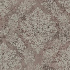 Taupe Heirloom Damask - Fabriana - Rustico Wallpaper by Raymond Waites Damask Wallpaper, Print Wallpaper, Home Wallpaper, Pattern Wallpaper, Wallpaper Warehouse, Classic Wallpaper, Traditional Wallpaper, Raymond Waites, Pretty Wallpapers