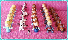 Aplique Personagens do filme Frozen Uma Aventura Congelante , Produzimos todos os personagens em biscuit com 5 cm , Elsa ,Anna , Olaf ,Kristoff, Sven . R$ 5,80