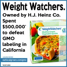 Follow the money! We vote with our dollars. BUY ORGANIC!!! BOYCOTT HEINZ & ALL That They OWN!!