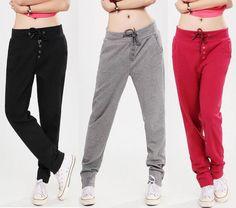 hip hop pants for women | ... Sports Harem HIP HOP Pants Women Casual Fleece Sweat Pants S XL | eBay