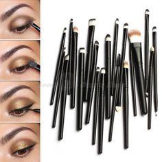 AliExpress GroupBuy Conjunto de 20 pincéis de maquiagem