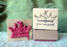 Princess Crown rubber stamp from by oldislandstamps on Etsy, $9.50