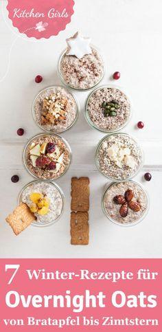 Gesundes Frühstück über Nacht: Wir zeigen euch 7 Rezepte für Overnight Oats mit Lebkuchen, Spekulatius & Co.! #overnightoats  #breakfast #breakfasttogo #eatme #food #recipes #paleo