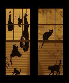 Spooky Halloween Window Silhouette