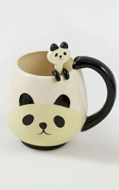 Panda mug and spoon set // so kawaii, so cute!