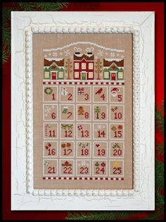 Countdown to Christmas - Cross Stitch Pattern by COUNTRY COTTAGE NEEDLEWORKS Christmas Advent Calendar by TheeCottageLane on Etsy https://www.etsy.com/listing/248250653/countdown-to-christmas-cross-stitch