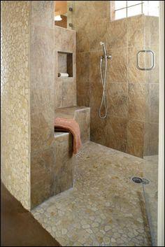 Universal design for walk-in shower