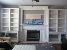 system for hiding cords to a wall-mounted TV over mantel