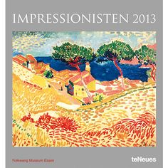 Impression Poster Calendar: Twelve beautiful images from the Impressionism school of painting make up this 2013 Impressionism Poster Calendar.  Each month features a new image from some masters of this art form.  Spiral binding and monthly dates with Sundays shaded for easy reference complete this lovely package.  http://www.calendars.com/Impressionism/Impression-2013-Poster-Calendar/prod201300002588/?categoryId=cat00013=cat00013