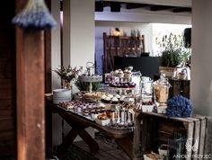 16. Lavender Wedding,Sweets,Sweet table decor,Rustic decor / Wesele lawendowe,Słodkości,Dekoracje słodkiego stołu,Rustykalne dekoracje,Anioły Przyjęć