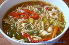 Sopa de Pato con Verduras y Tallarines