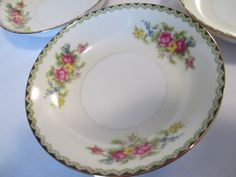 Vintage Imperial China Komatsu Dessert / Fruit Bowls - Set of 4 Fruit Bowls, Antique China, Vintage Kitchen, Bowl Set, Plates, Antiques, Tableware, Desserts, Licence Plates