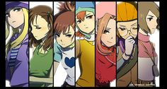 The females of Digimon Adventure, Adventure 02, Tamers, and Frontier