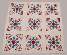 Erie Pennsylvania Appliqued Quilt, Ca. 1870 - 1880,~♥~