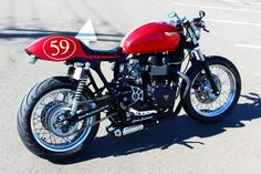 Red Baron Triumph Bonneville Cafe Racer ~ Return of the Cafe Racers