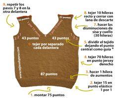Chaleco para niños - Tejiendo Perú