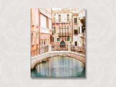 Venice Fine Art Photo on Canvas TITLE: Acqua Dolce  (Fine art photographic print of this image available here: www.etsy.com/listing/117712355)  GALLERY WRAPPED CANVAS FEATURES:  – Image is fully reproduced on the front of the canvas. No part of the original image is hidden but is extended digitally to seamlessly wrap on the sides.  – Faithful image matching and stunning color rendition.  – Extremely durable construction with rigid 1 1/4 deep frame and flat black backing, no unf...